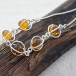 Amber sterling silver necklace 2