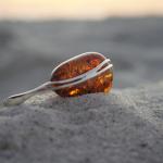 Large Cognac amber bracelet