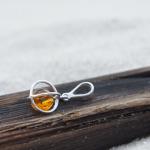 Amber bead pendant
