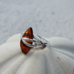 HONEY NATURAL GENUINE BALTIC AMBER 925 STERLING SILVER RING