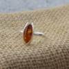 Oval Amber Sterling Silver Ring