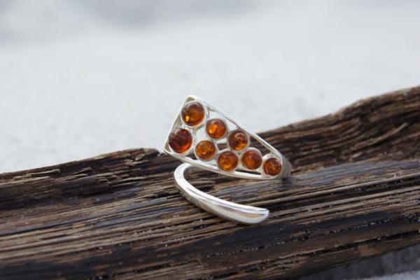 Unique Amber ring