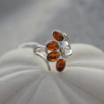 Amber Ring Crafted in Silver