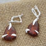 Amber Oval Earrings