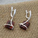 Amber Square Earrings